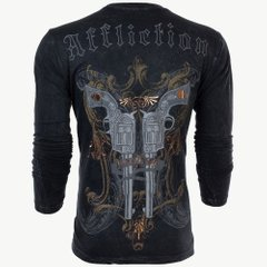 Affliction футболка DEAD OR ALIVE Guns Long, M